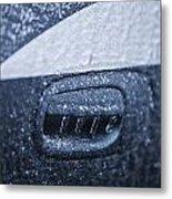 Dodge Charger Frozen Car Handle Metal Print