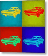 Dodge Charger Pop Art 2 Metal Print