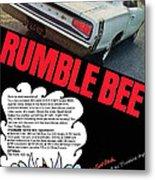 Dodge Coronet Super Bee - Rumble Bee Metal Print