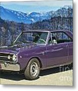 Dodge- Mountain Background Metal Print
