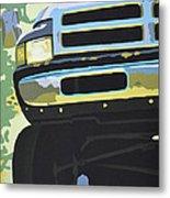 Dodge Ram With Green Hue Metal Print