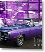 Dodge Rt Purple Abstract Background Metal Print