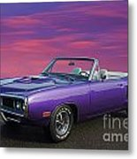 Dodge Rt Purple Sunset Metal Print
