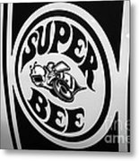 Dodge Super Bee Decal Black And White Picture Metal Print