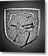 Dodge Viper Emblem -217bw Metal Print