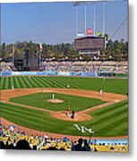 Dodger Stadium Panorama Metal Print by Eddie Yerkish