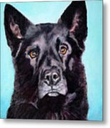 Does This Include Me Black Dog Metal Print