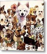 Dog And Puppies Metal Print by John YATO
