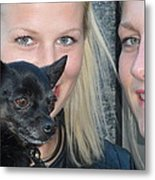 Dog And True Friendship 6 Metal Print