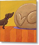Dog And Turkey Metal Print by Christy Beckwith