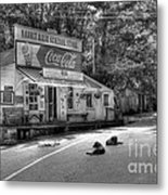 Dog Day Afternoon Bw Metal Print