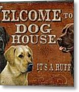 Dog House Metal Print by JQ Licensing