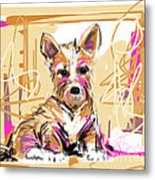 dog I did not make this mess Metal Print