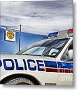 Dog River Police Car Metal Print