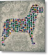 Dog Silhouette Digital Art Metal Print