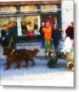 Dog Sleigh Ride Metal Print