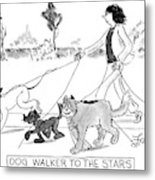 Dog Walker To The Stars Metal Print