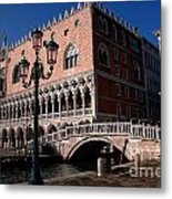 Doges Palace With Bridge Of Sighs Metal Print