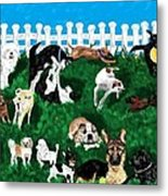 Doggy Daycare Metal Print by LCS Art