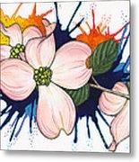 Dogwood Flowers Metal Print by Nora Blansett
