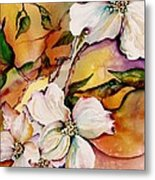 Dogwood In Spring Colors Metal Print by Lil Taylor