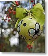 Dogwood Majolica Maiolica Ornament Metal Print by Amanda  Sanford