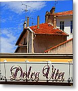 Dolce Vita Cafe In Saint-raphael France Metal Print