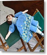 Doll And Camp Chairs 1800s Metal Print