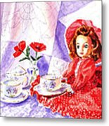 Doll At The Tea Party  Metal Print