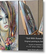 Doll With Roses 010111 Comp Metal Print
