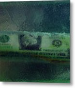 Dollar Note Life Destiny Fate Living In The Soap Metal Print