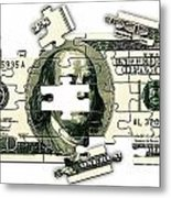 Dollar Puzzle-2 Metal Print