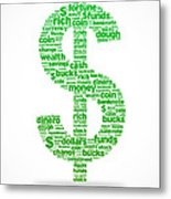 Dollar Sign Metal Print by Aged Pixel