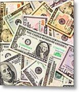 Dollars Background.  Metal Print