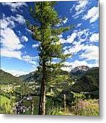 Dolomites - Tree Over The Valley Metal Print