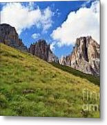 Dolomites On Summer Metal Print
