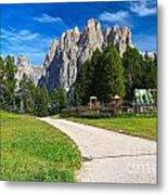 Dolomiti - Gardecia With Catinaccio Mount Metal Print