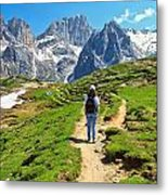 Dolomiti - Hiking In Contrin Valley Metal Print