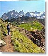 Dolomiti - Trekking In Val Ldi Fassa Metal Print