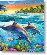 Dolphin Bay Metal Print by Adrian Chesterman