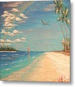 Dolphin Bay Metal Print by The Beach  Dreamer