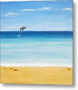 Dolphin Beach Metal Print