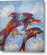 Dolphin Playjourney Metal Print