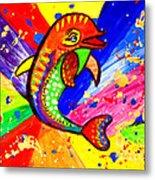 Dolphin Pop Art  Metal Print