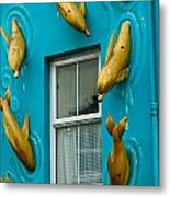 Dolphins At The Window Metal Print