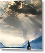 Domaso Sunrays Metal Print
