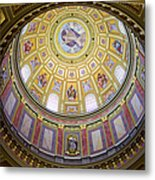 Dome Interior Of The St Stephen Basilica In Budapest Metal Print
