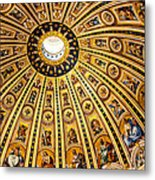 Dome Of St Peter's Basilica Vatican City Italy Metal Print