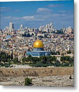 Dome Of The Rock In Jerusalem Metal Print