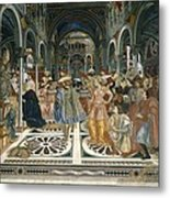 Domenico Di Bartolo 1400-1447. Pope Metal Print